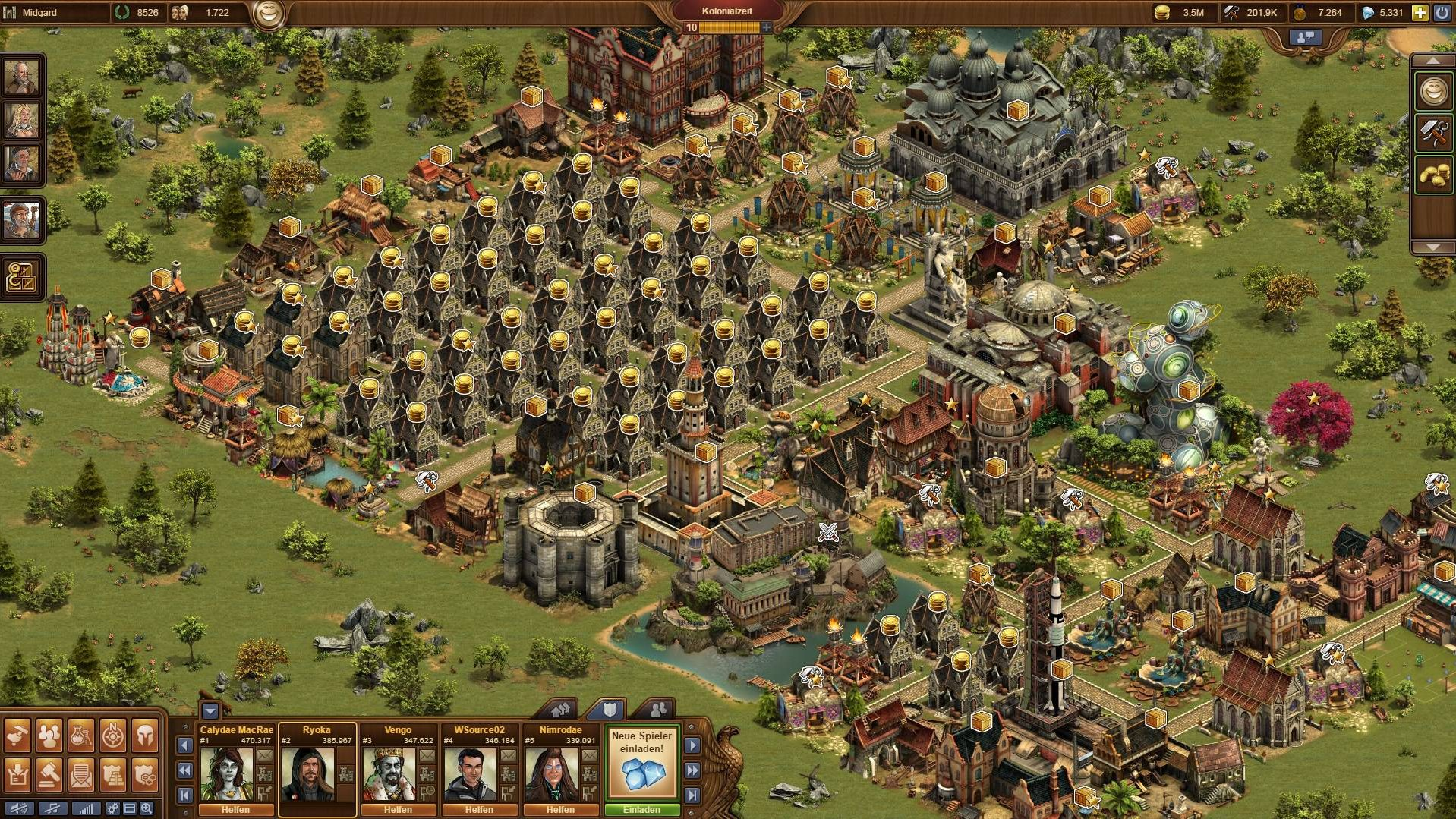Forge of Empires Finished production